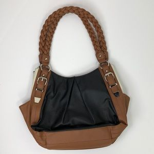 NWOT Apt. 9 Black Brow Cream Shoulder Bag